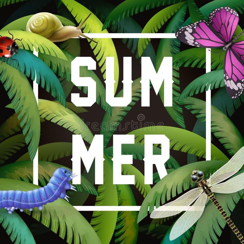 De zomer grafisch ontwerp vector illustratie