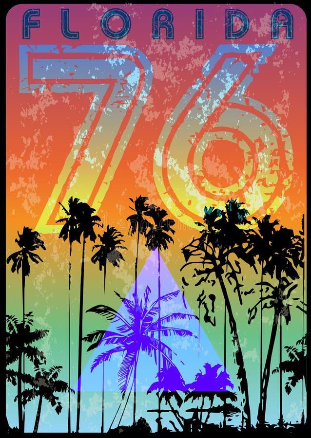 De Zomer grafisch T-stuk van Florida stock illustratie