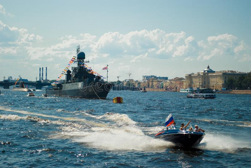 De zomer in heilige-Petersburg royalty-vrije stock foto