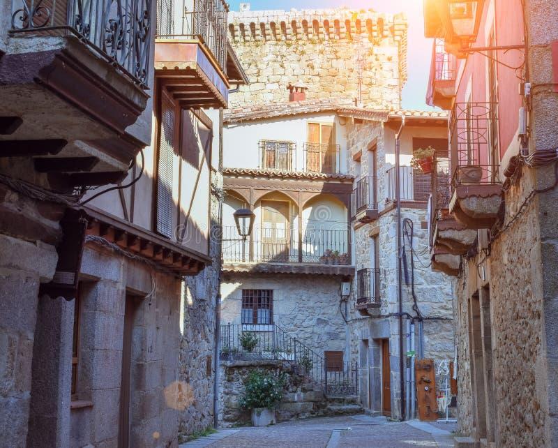 De zomer in het dorp, Salamanca royalty-vrije stock foto