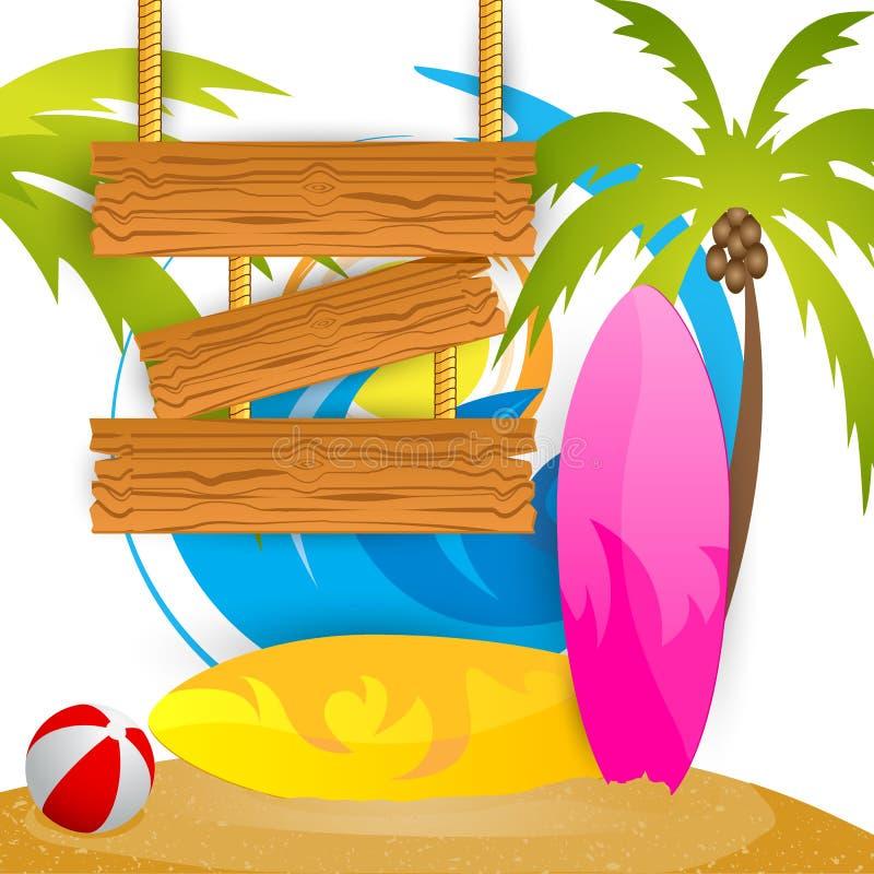 De zomer het Surfen Kamp vector illustratie