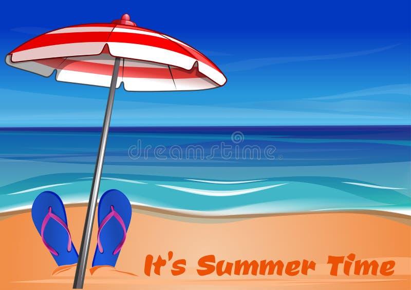 De zomer het van letters voorzien Het de zomertijd van ` s vector illustratie