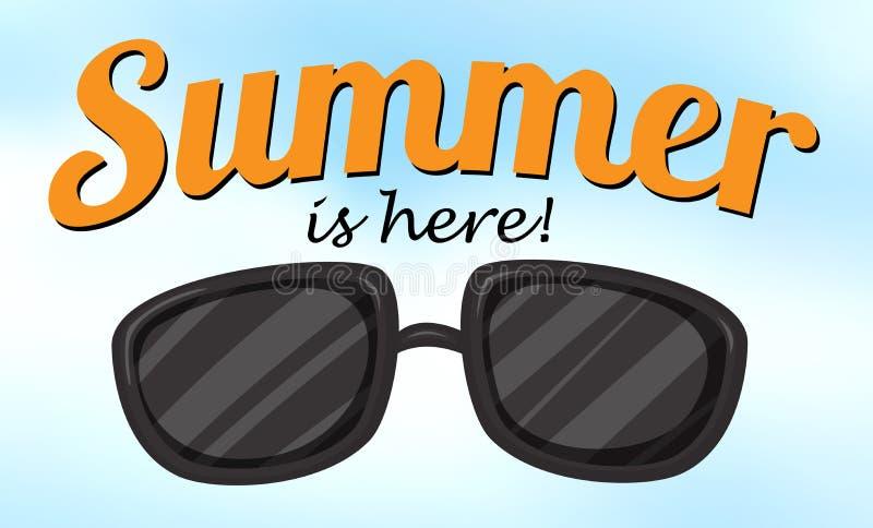 De zomer is hier vector illustratie