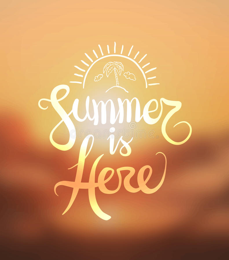 De zomer is hier vector stock illustratie