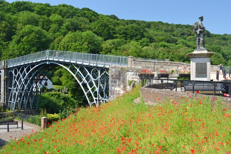De zomer Ironbridge stock fotografie