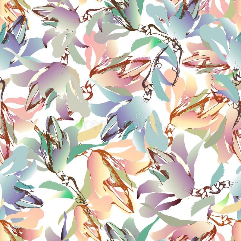De zomer kleurrijke achtergrond van bloemen Feestelijke prettextuur, waterverf Vector illustratie royalty-vrije illustratie