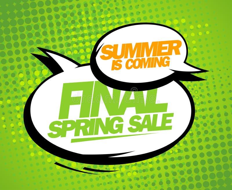 De zomer komt, het definitieve ontwerp van de de lenteverkoop vector illustratie