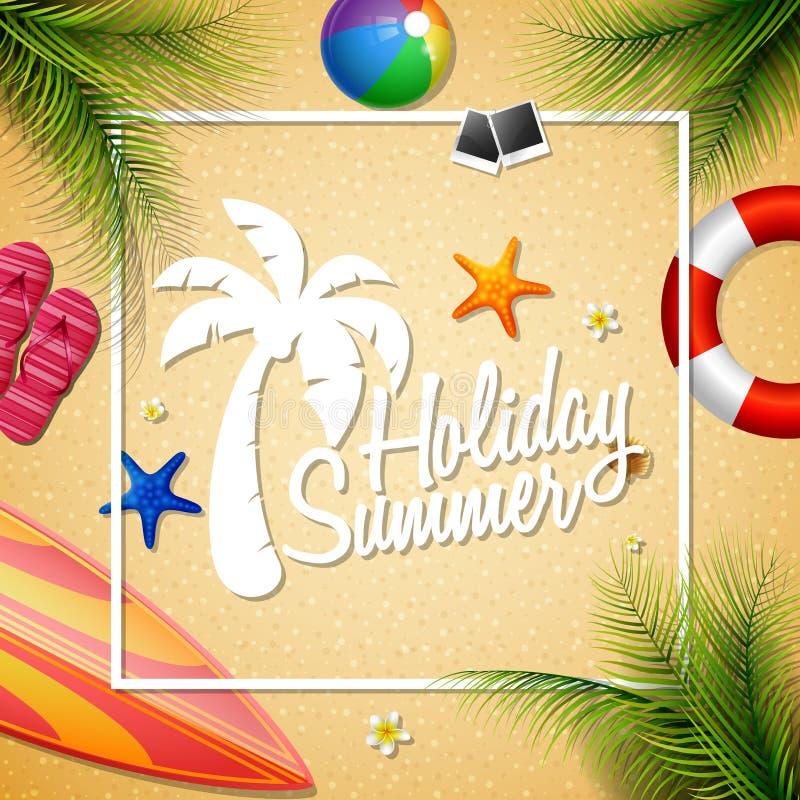 De zomer mooie vakantie royalty-vrije illustratie