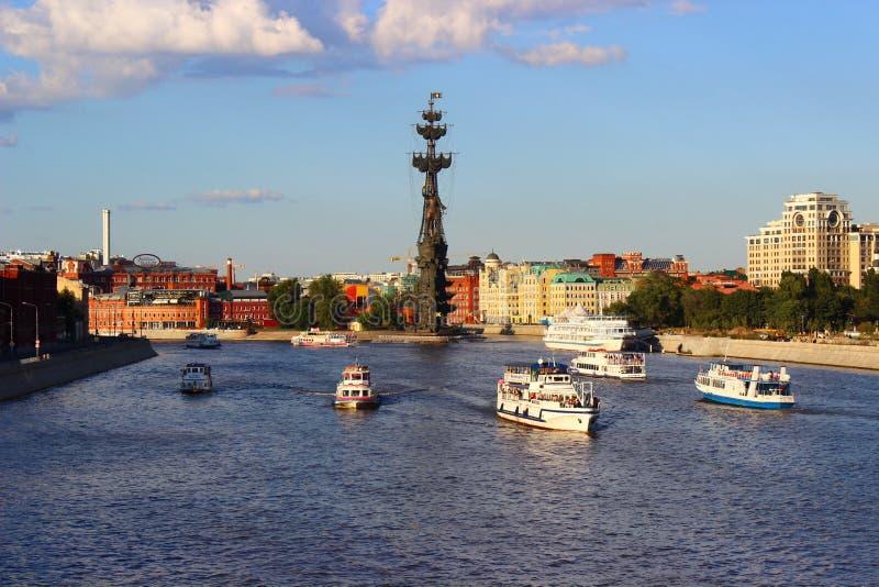 De zomer in Moskou royalty-vrije stock foto's
