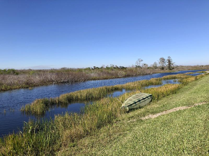 de zomer op bayou stock foto's