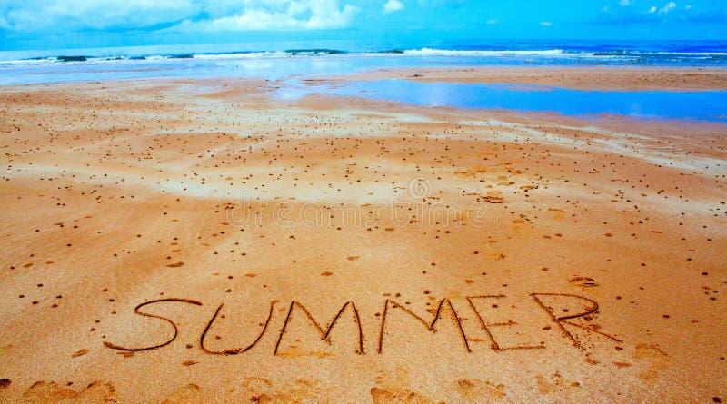 De zomer, overzees en zand stock foto's