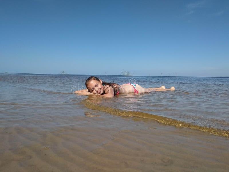 de zomer overzees zon en strand royalty-vrije stock afbeelding