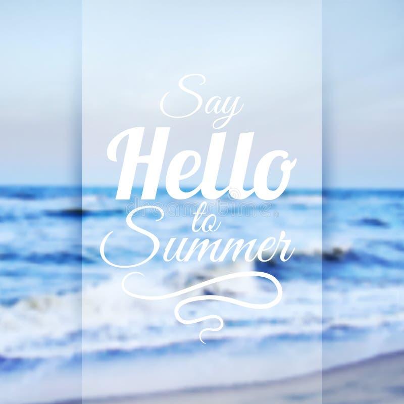 De zomer overzeese achtergrond stock illustratie