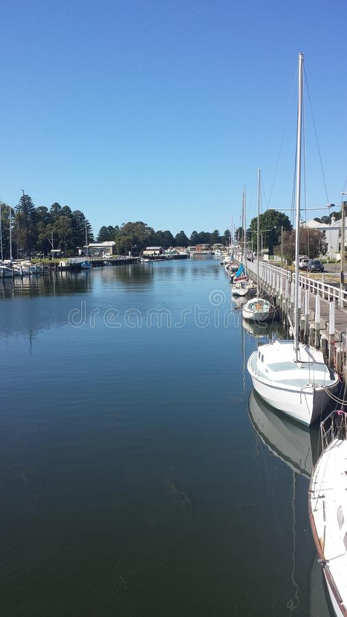 De zomer in Port Fairy stock foto