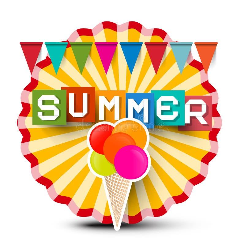 De zomer retro etiket vector illustratie