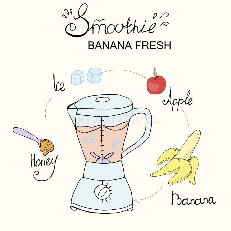 De zomer smoothie recept vector illustratie