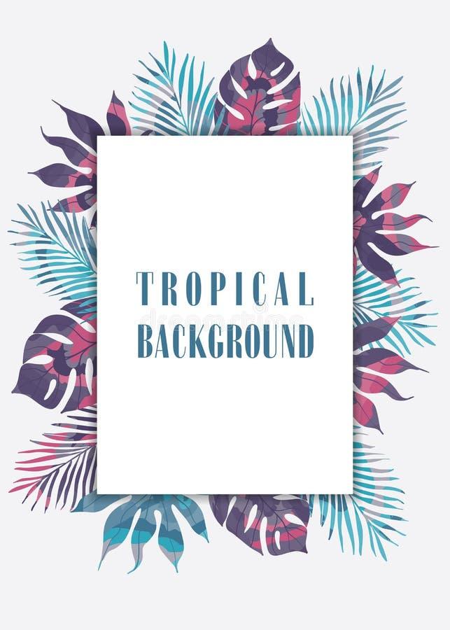 De zomer tropische Hawaiiaanse achtergrond stock illustratie