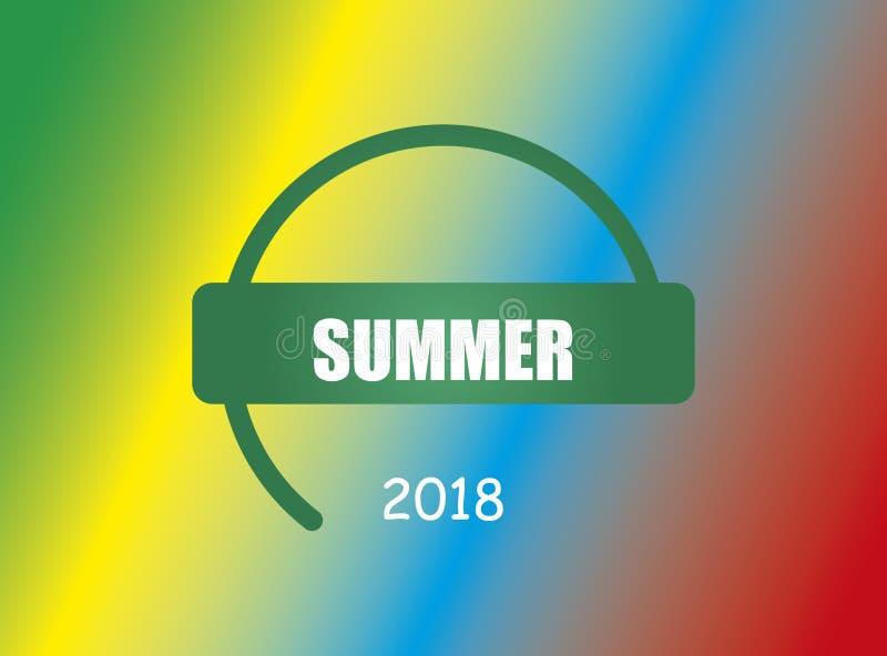De zomer van 2018 vector illustratie