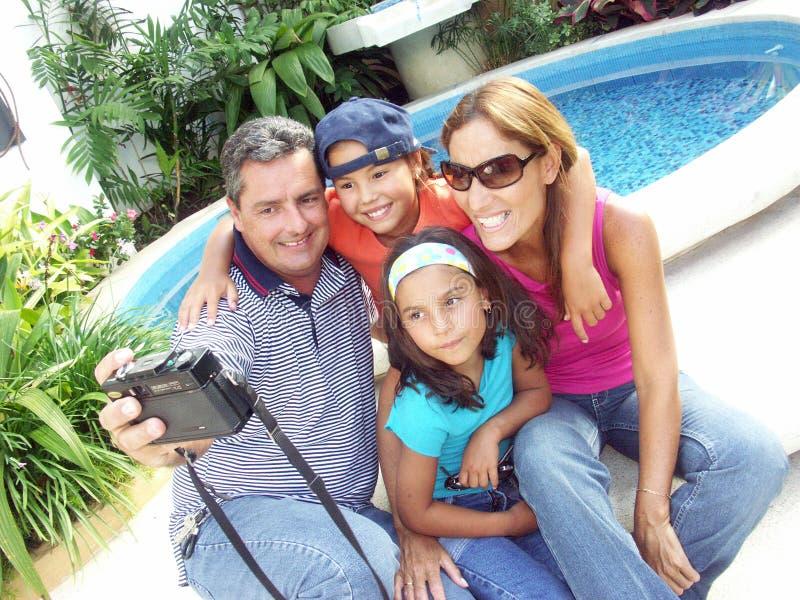 De zomer van de familie. royalty-vrije stock foto