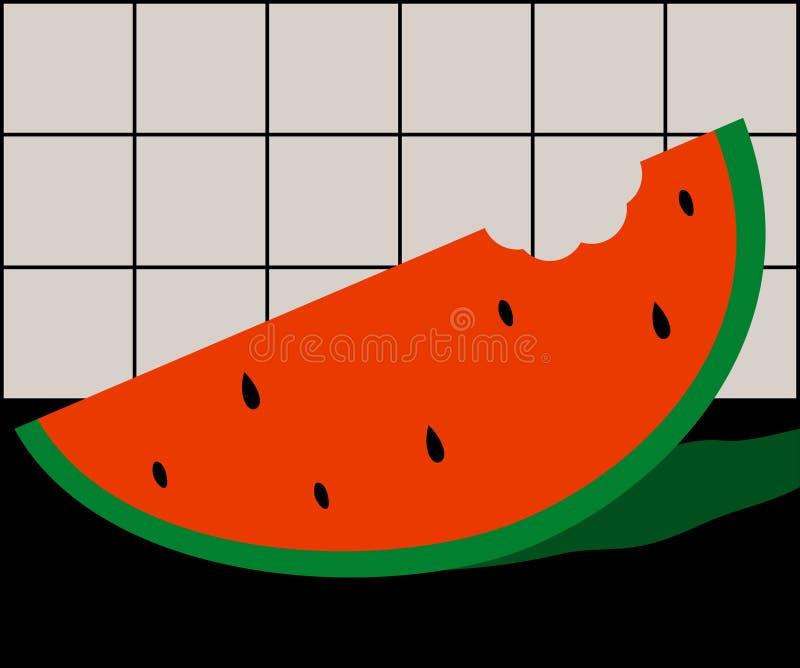 De Zomer van de watermeloen stock illustratie