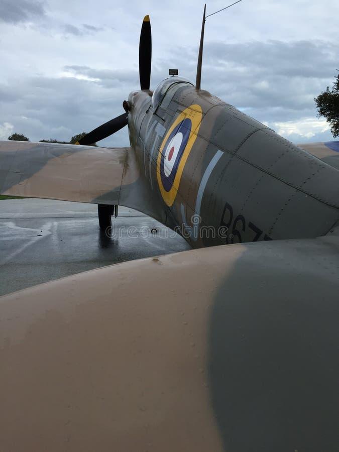 De zomer van Dover England van het oorlogsvliegtuig royalty-vrije stock foto