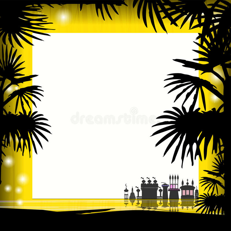 De zomer van het fotokader Vector illustratie stock illustratie