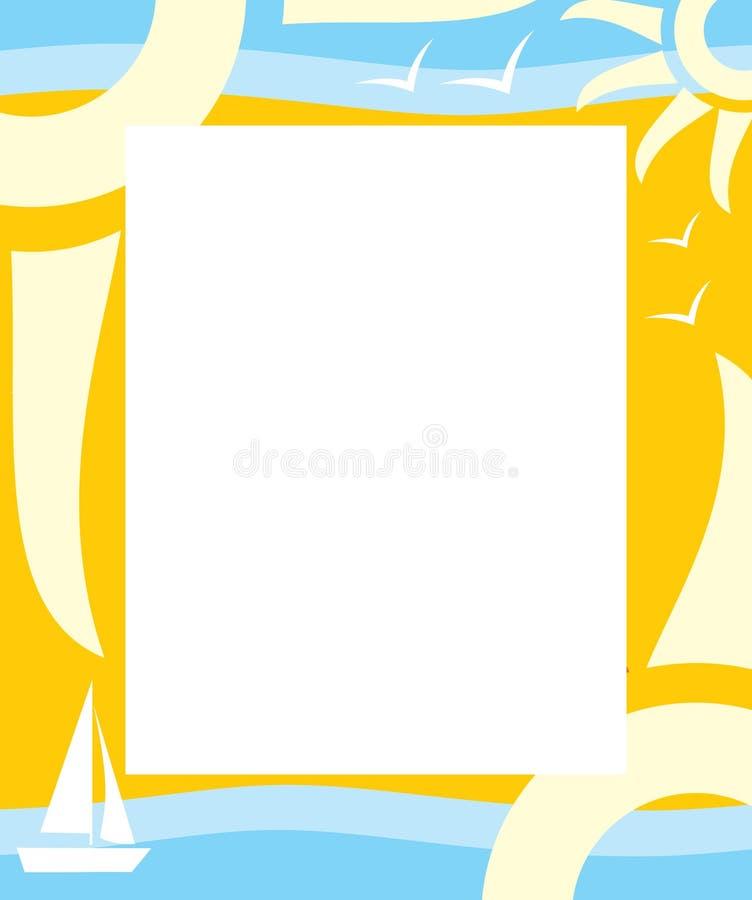 De zomer van het frame vector illustratie