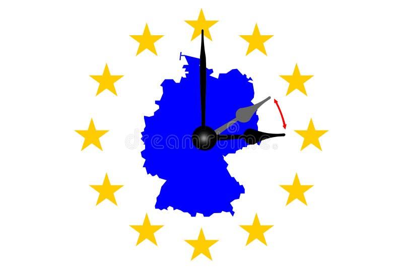 De Zomer van de de Klokverandering van Duitsland aan Wintertijd stock illustratie