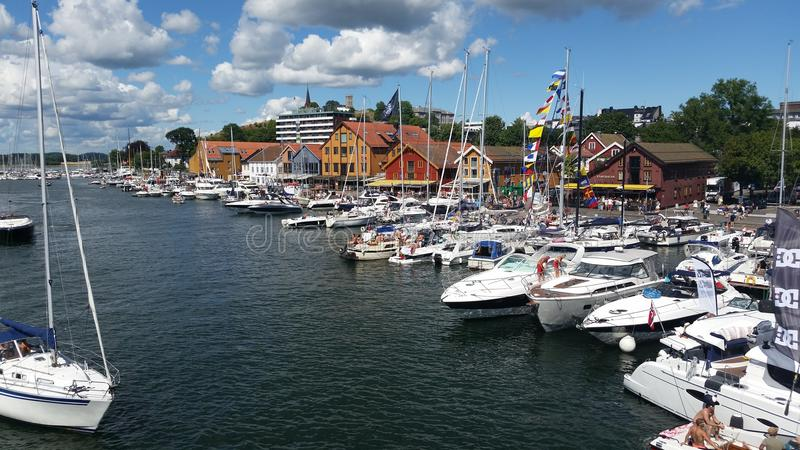 De zomer van Noorwegen royalty-vrije stock fotografie