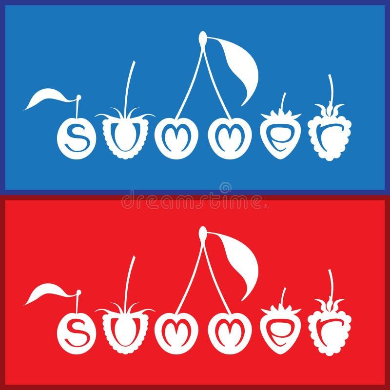 De zomer vectorillustratie royalty-vrije stock afbeelding