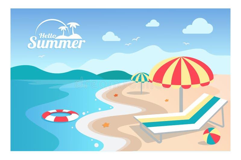 De zomer vectorillustratie als achtergrond vector illustratie