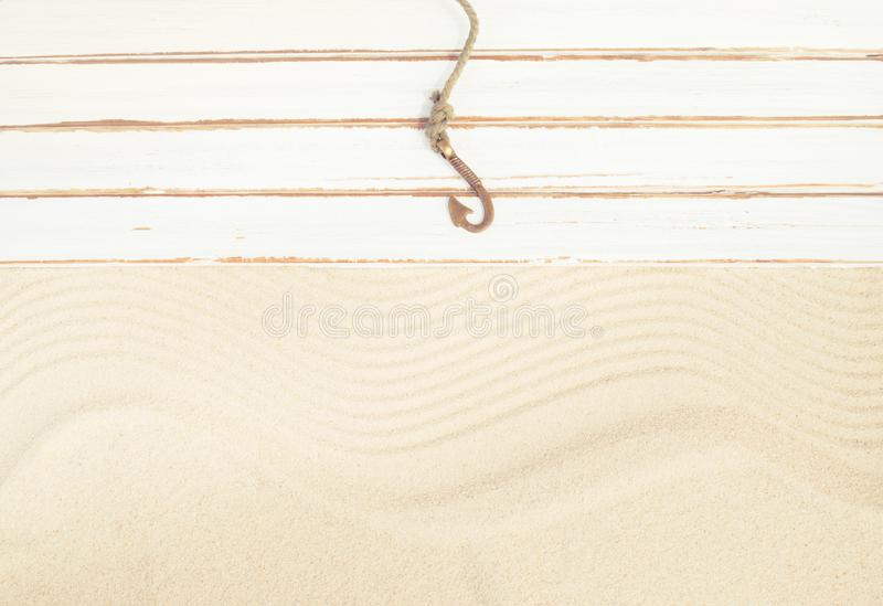 De zomer visserijachtergrond royalty-vrije stock afbeelding