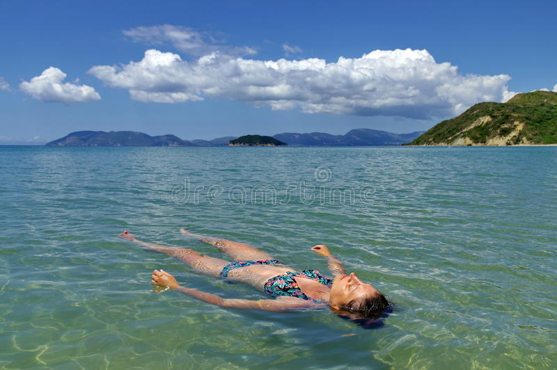 De zomer, water, pret stock foto