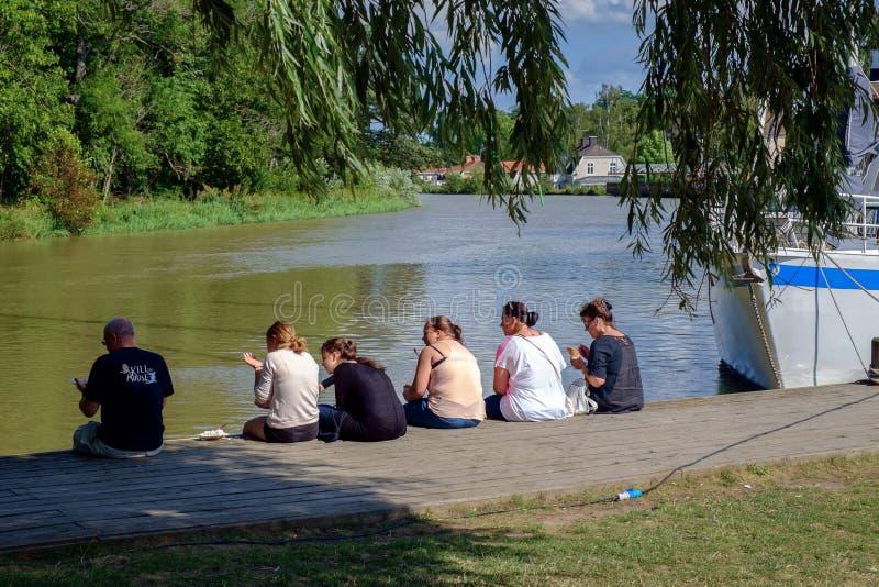 De zomer in Zweden stock afbeeldingen