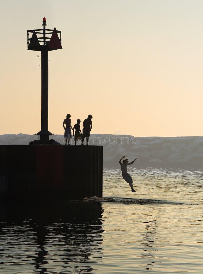 De zomer zwemt stock fotografie