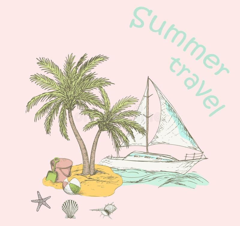 De zomerachtergrond 2 vector illustratie