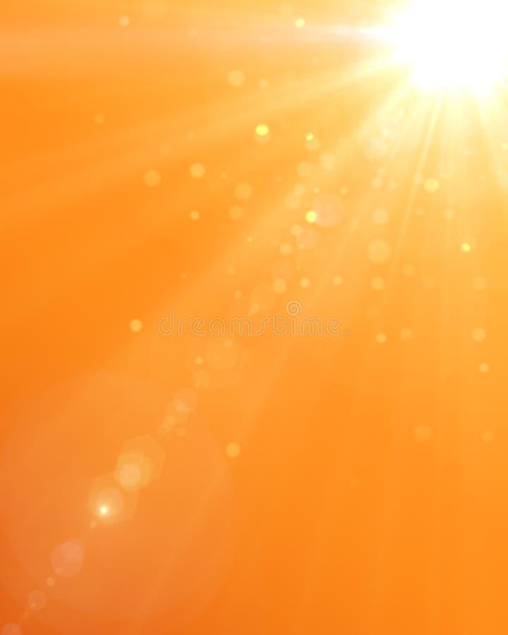 De zomerachtergrond met een prachtige zonuitbarsting