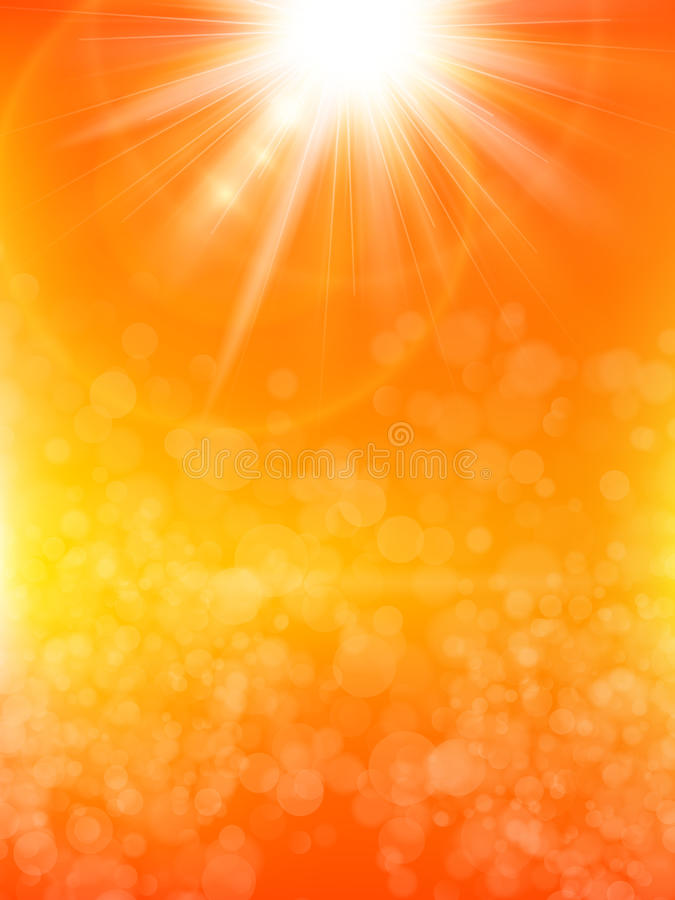 De zomerachtergrond met een zon Eps 10 stock illustratie