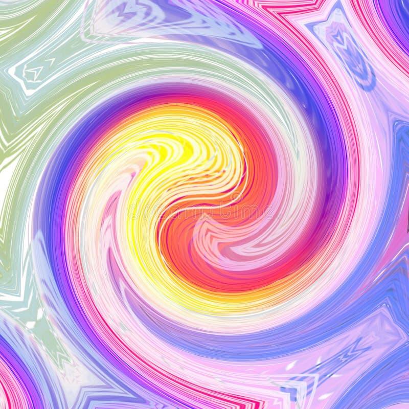 De zomerachtergrond met pastelkleuren vector illustratie