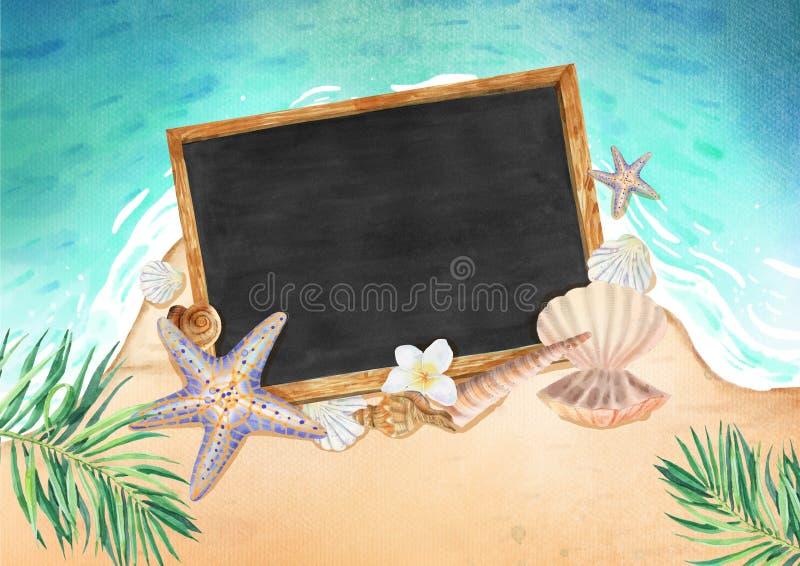 De zomerachtergrond royalty-vrije illustratie