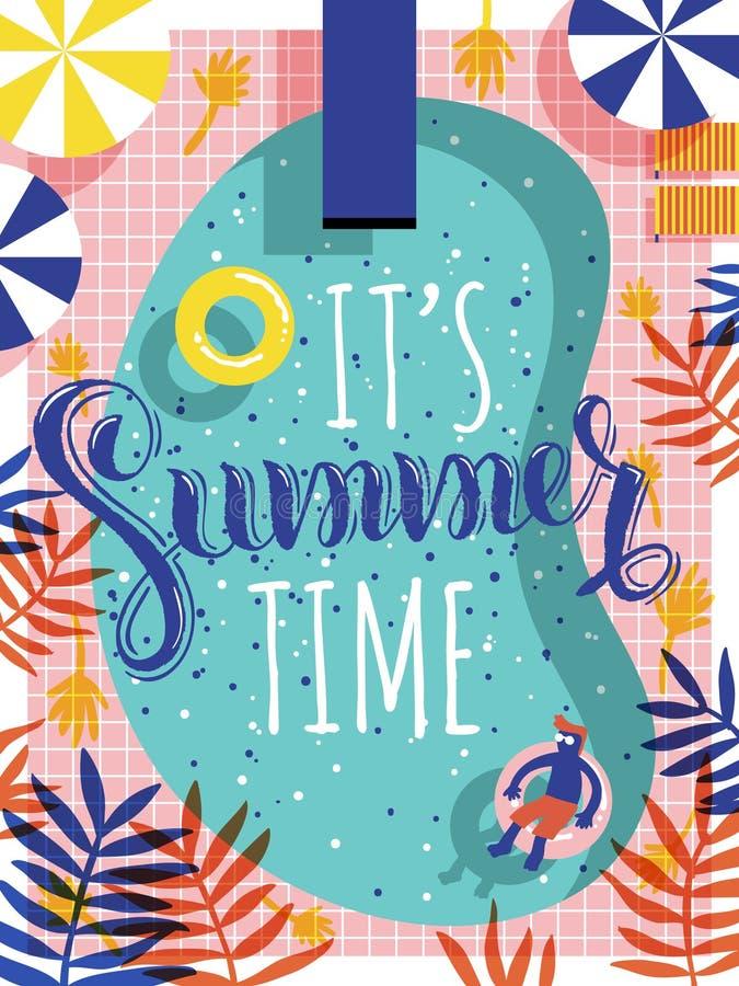 In de zomeraffiche vector illustratie