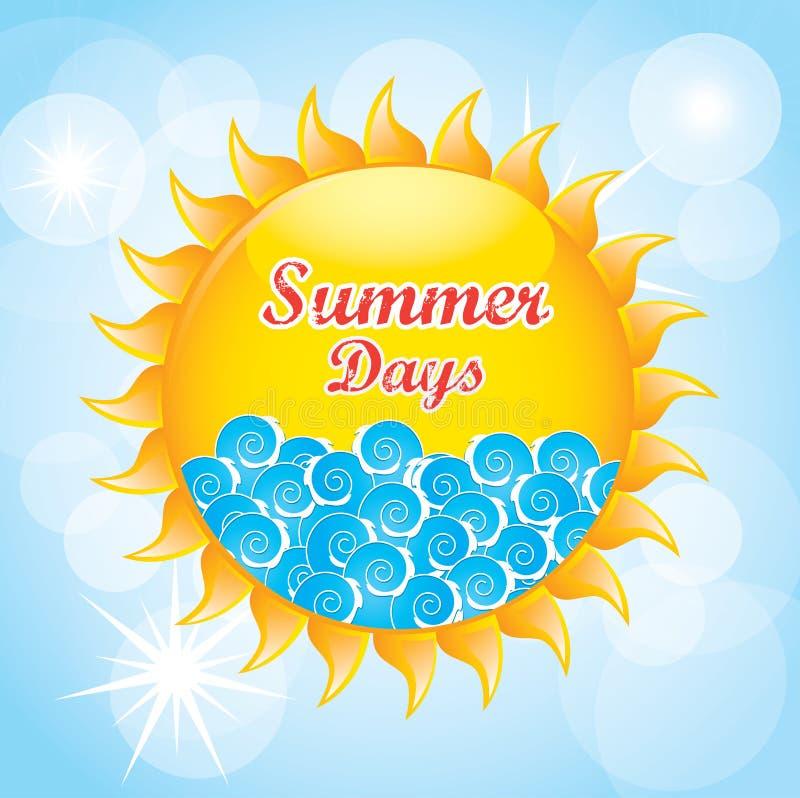 De zomerdagen vector illustratie