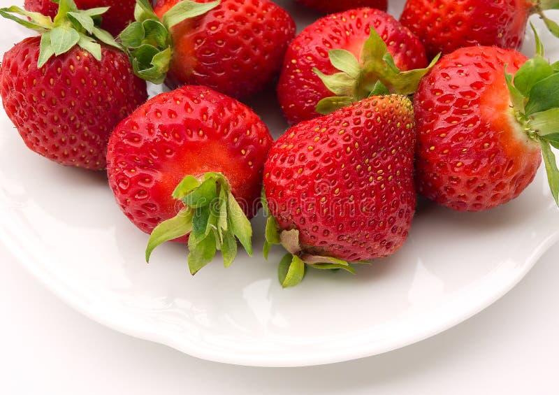 De zomerdessert - aardbeien royalty-vrije stock fotografie
