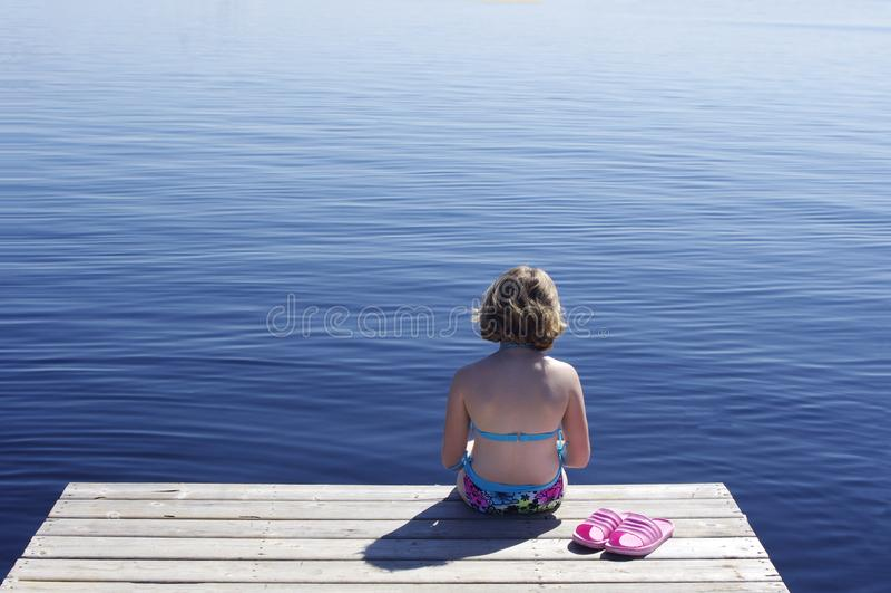 De zomerdok stock afbeeldingen