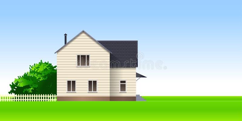 De zomerhuis stock illustratie