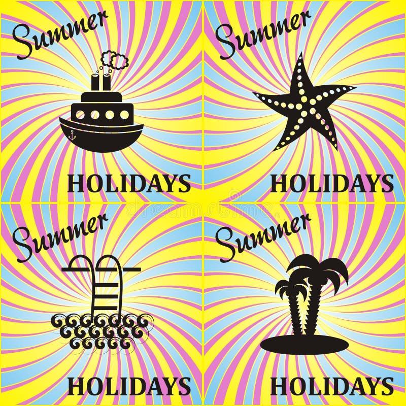 De zomerkaart vector illustratie