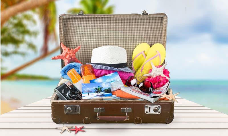 De zomerkoffer stock fotografie