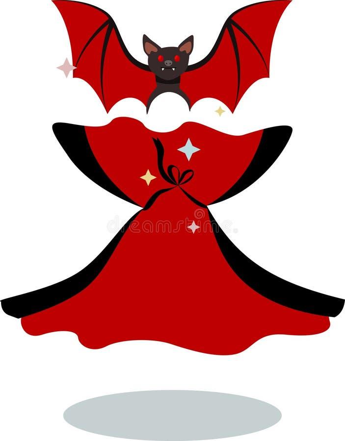De de zomermuis Dracula op het tijdstip van transformatie vector illustratie