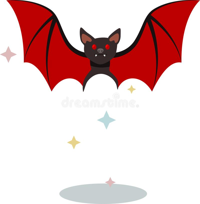 De de zomermuis Dracula op het tijdstip van transformatie stock illustratie