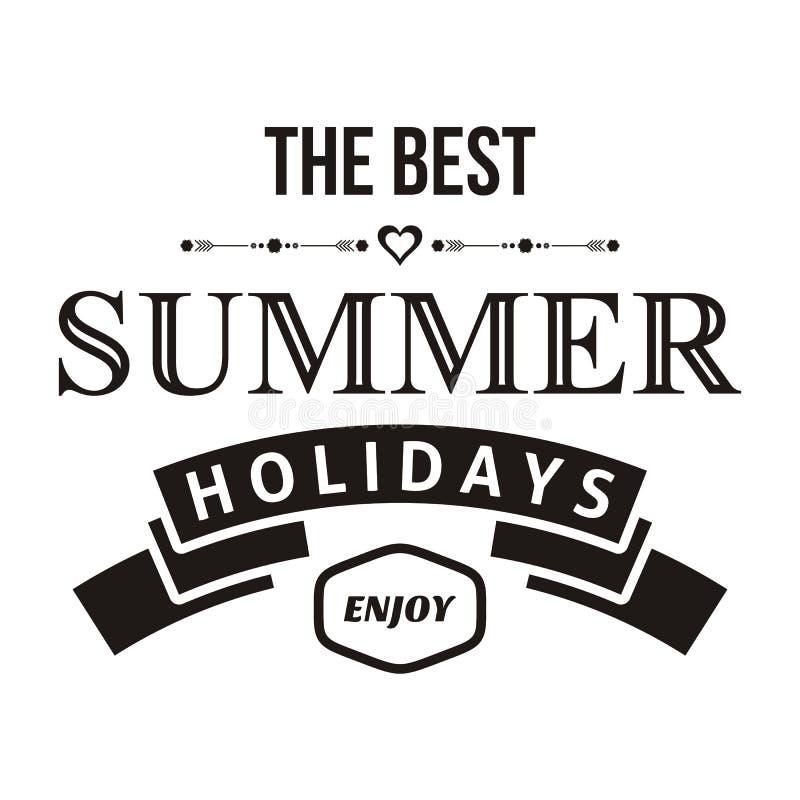 De zomerontwerp vector illustratie